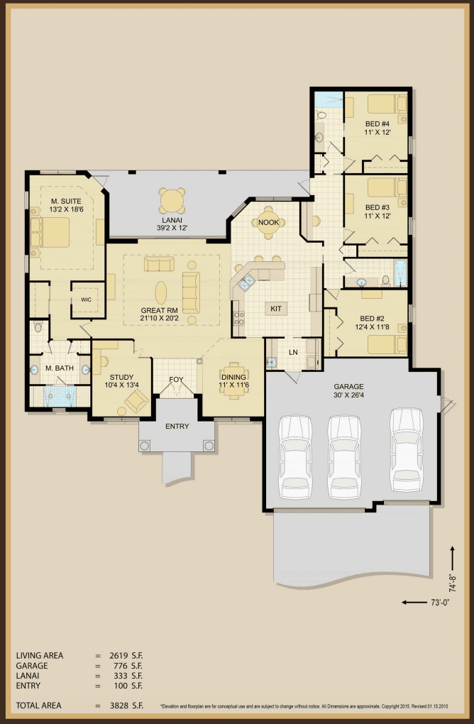 Rose Marie Floor Plan Specifications | Covenant Homes