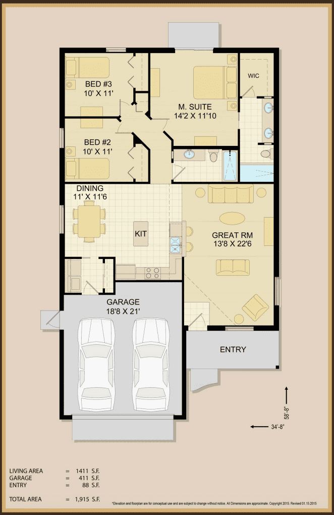 Leah Home Floor Plan Specifications | Covenant Homes